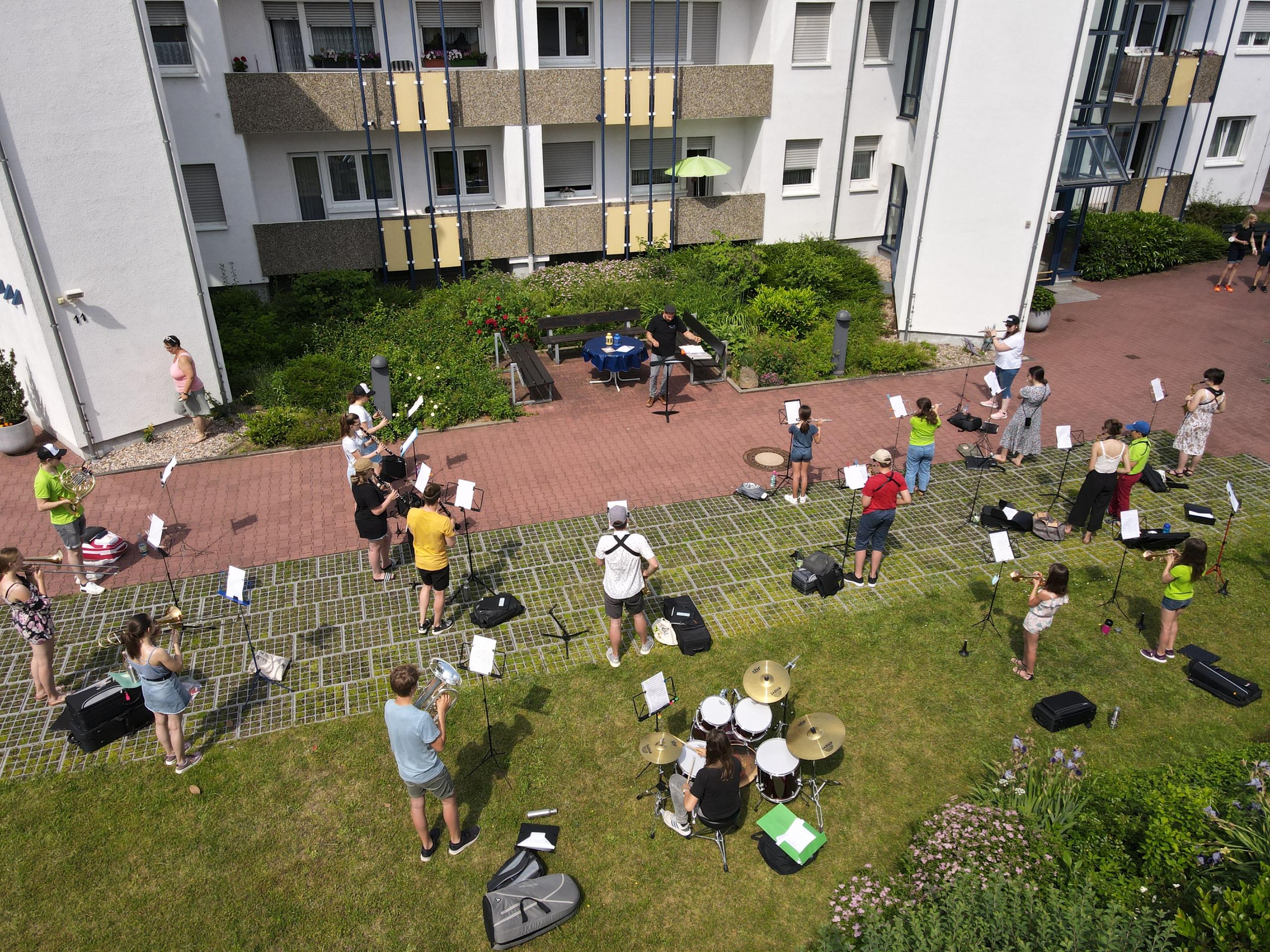 Open-Air-Probe des Jugendorchesters